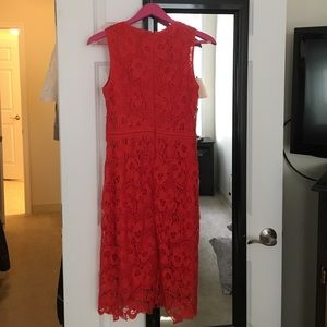 Ann Taylor Dresses - Ann Taylor red lace dress size 2