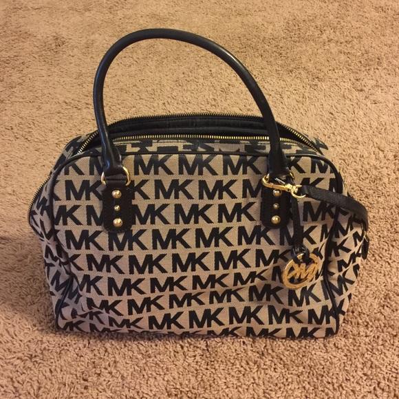 6abfa0181c54bd Michael Kors MK Signature Jacquard Large Satchel.  M_5803c175c28456848e00d2a9. Other Bags ...