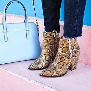 Steve Madden Shoes - Steve Madden Snake Printed Booties