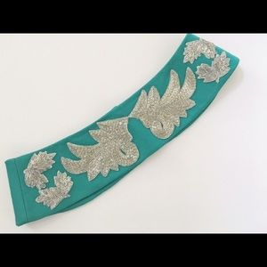 Vintage stunning turquoise sequence belt