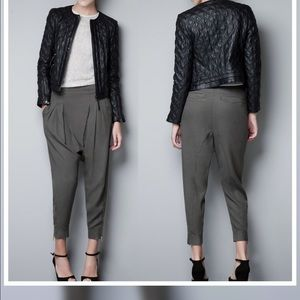 Zara Jackets & Blazers - Zara Quilted Lambskin Leather Moto Jacket
