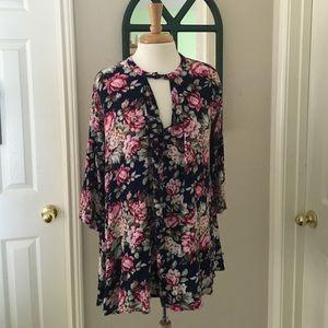 UMGEE Printed Long Sleeve Dress
