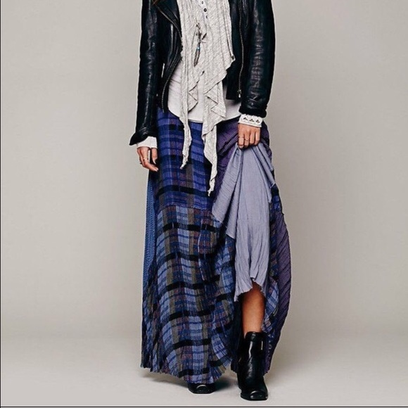 f26910ec84 Free People Dresses & Skirts - fp one 'royal' blue plaid patchwork maxi  skirt