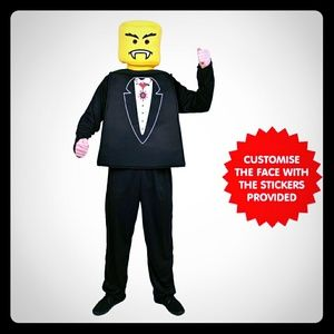 Lego Other - MR BLOCK HEAD VAMPIRE TUX COSTUME