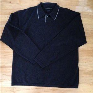 Men's Italian Yarn Sweater, XL, Merino Wool
