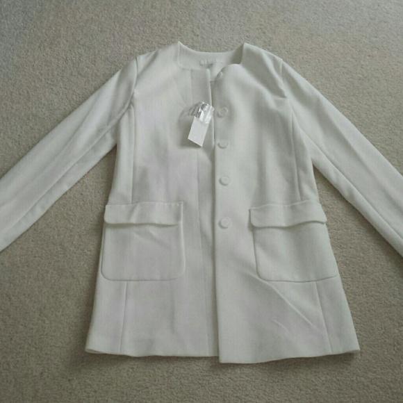 73% off Uniqlo Jackets & Blazers - NWT UNIQLO White coat from ...