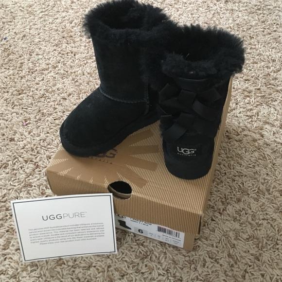 Girls black UGG boots! Size 6