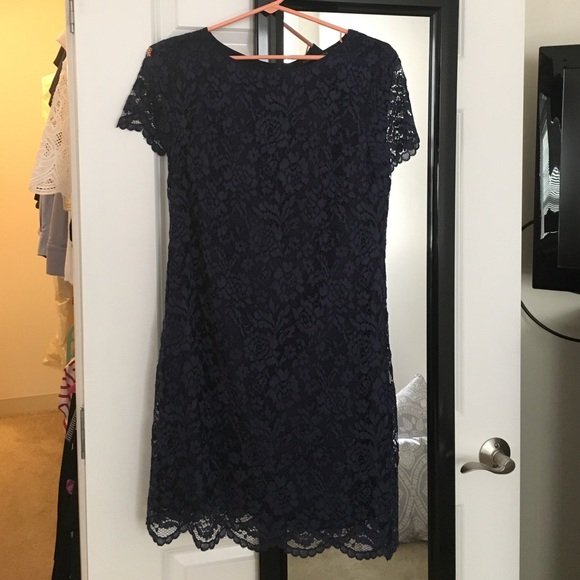 Cynthia Steffe Dresses & Skirts - Cynthia Steffe navy lace dress size 6