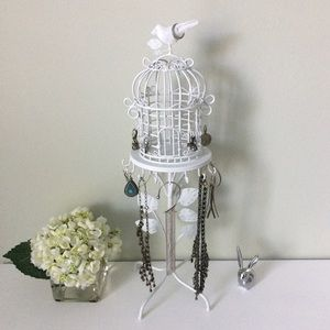 Jewelry - SOLD | Adorable Birdcage Jewelry Stand