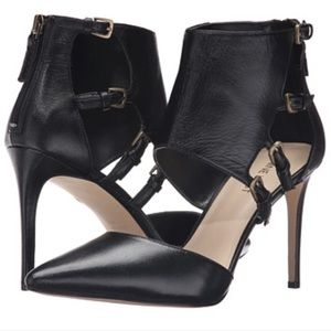 Sale | NEW Black Leather Ankle Cuff Pumps