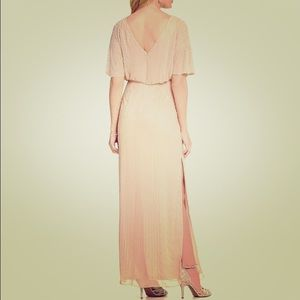 Aidan Mattox Gorgeous Beaded Blush Gown Size 6