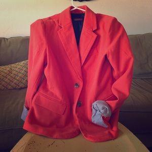 Burnt Orange Wool Blazer, fully lined, Size 4.