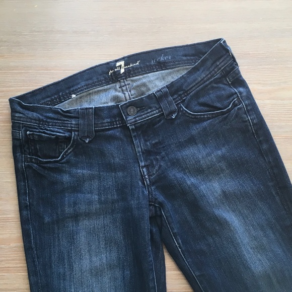 78% off 7 For All Mankind Denim - 7 For All Mankind Rocker Jeans ...