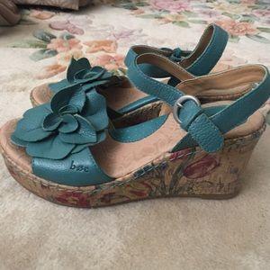 b.o.c. Shoes - BOC turquoise flower wedges