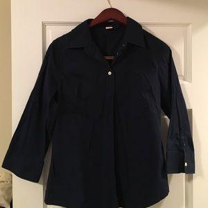 JCrew navy button down shirt