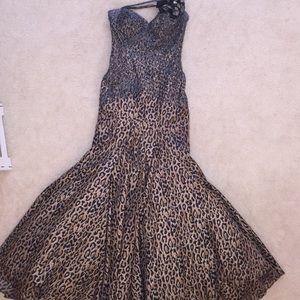 Tony Bowls Dresses & Skirts - Tony bowls leopard print beaded gown