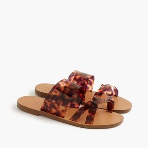 SALE! ❤ J. Crew Tortoise Slip Sandal