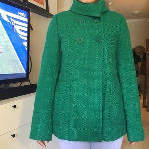 Tulle Jackets & Blazers - Tulle green basketweave coat
