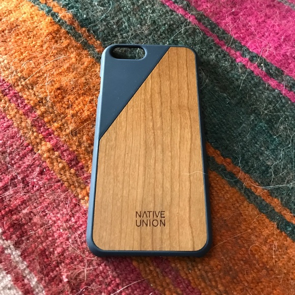 uk availability 04898 82e9d Native Union Navy Blue Clic Wooden iPhone 6 Case