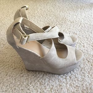 From target, size 8 tan wedges.