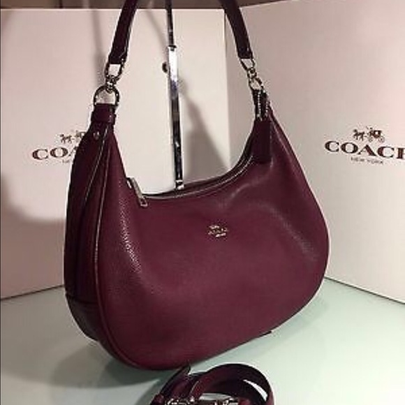 how to buy the cheapest new arrivals Coach Burgundy Harley Hobo Bag