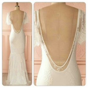 Free People Dresses & Skirts - 😘NWOT Snow queen gown / wedding gown ( S M )