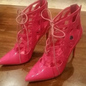 Penny Sue Shoes - Hot pink heels