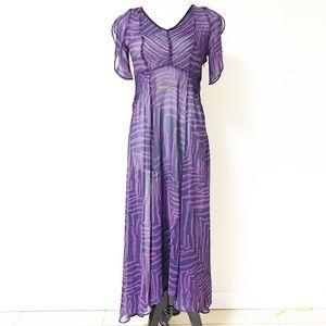 Dresses & Skirts - Purple sheer dress