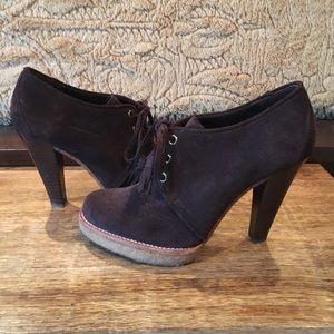 Coach Shoes - Final price! Coach Suede Lace Up Tassel Bootie 6