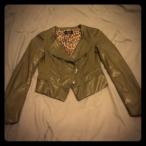 Modcloth vegan leather jacket