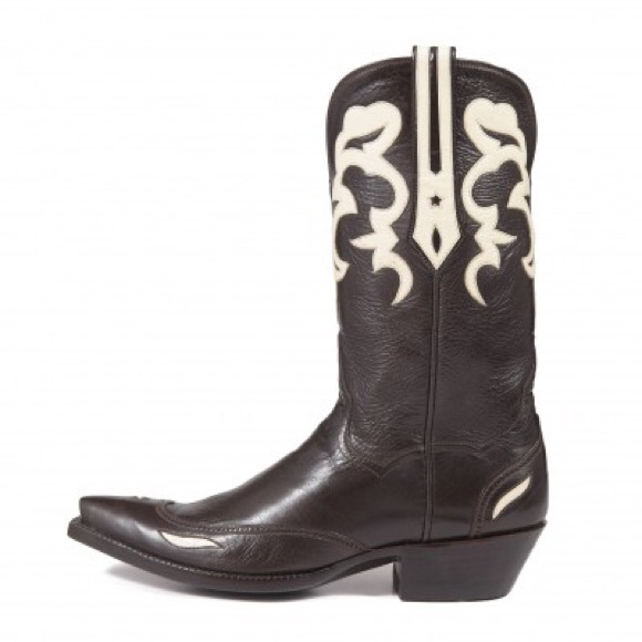 53684376360 JB Hill Cowboy Boots. Chocolate Italian Leather.