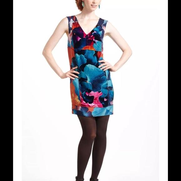 74ff41d1bd704 Anthropologie Dresses & Skirts - Anthropologie Leifsdottir Night Peony  Velvet Dress