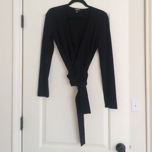 DKNY Black Wrap Shirt