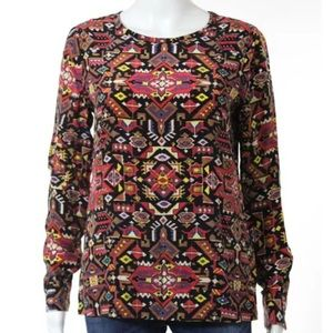 Equipment Blouse multicolored Aztec print XS NWOT