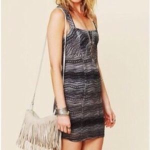 Free People Charcoal Lacy Dress-size 6-NWT