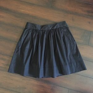 Black Pocket Pleat Skirt
