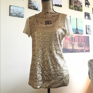 i jeans by Buffalo Tops - Champagne sequined tee