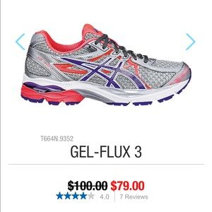 Asics Shoes - Asics gel flux 3 Womens 9 running shoes orange 383436e65c6d5
