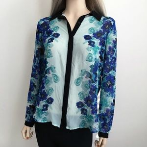 LC Lauren Conrad Floral Shirt 