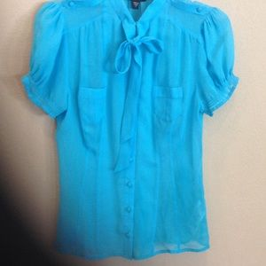 Turquoise Blouse by Bebe
