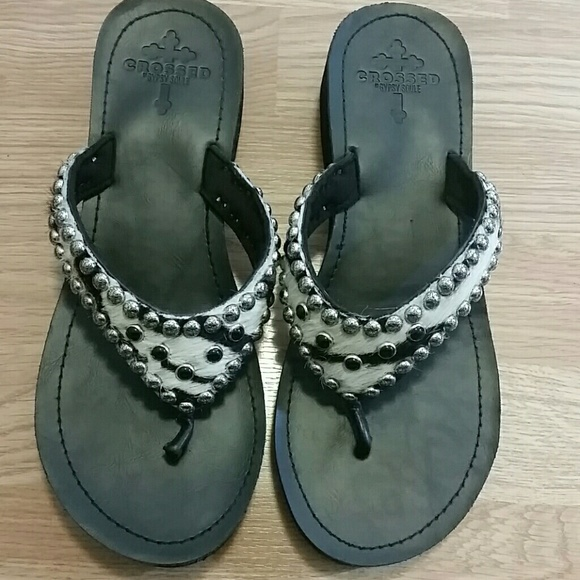 ecd0f3933 Gypsy Soule Crossed Shoes - Gypsy Soule Flip Flops
