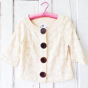 ModCloth    Kenzie Bolero Cream Eyelet Jacket