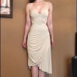 Herve Leger Dresses & Skirts - Herve Leger champagne beige bandage cocktail dress