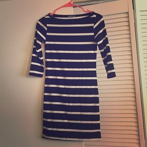 Dresses & Skirts - Black and white stripped dress came XS