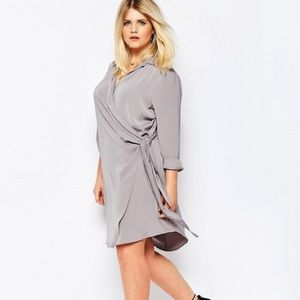 Missguided + Dresses & Skirts - MissGuided Wrap Shirt Dress
