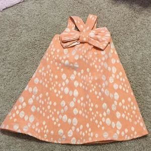 Halabaloo Other - Hala Baloo ALine dress with bow in peach with gold dots