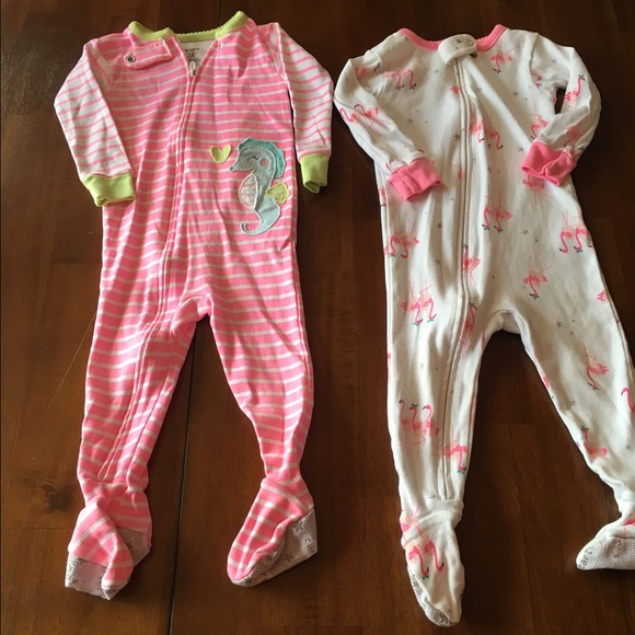 32aac76df9 Carter s Other - 12 month baby girl carters pajama sleepers