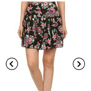 Print Color Skirt