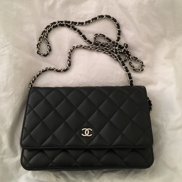 370898639375 CHANEL Handbags - Chanel wallet on chain (WOC) black lambskin
