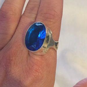 Jewelry - Swiss Blue Topaz Sterling - Size 9